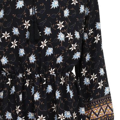 ethnic detail flower dress multi